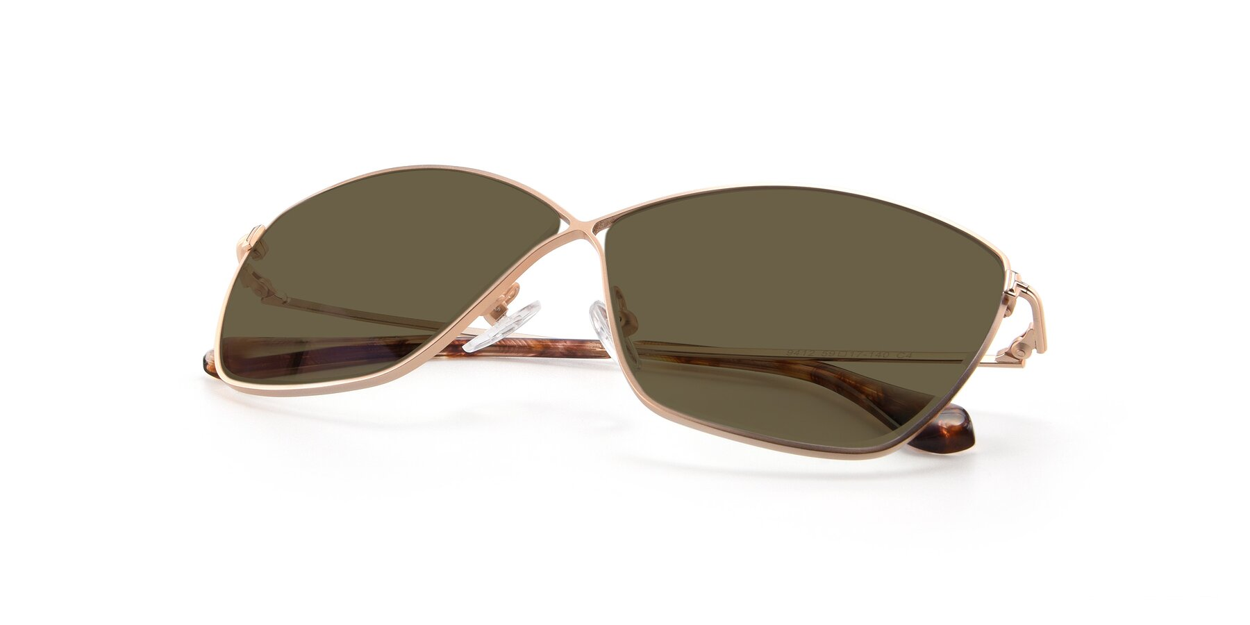 View of 9412 in Gold with Brown Polarized Lenses