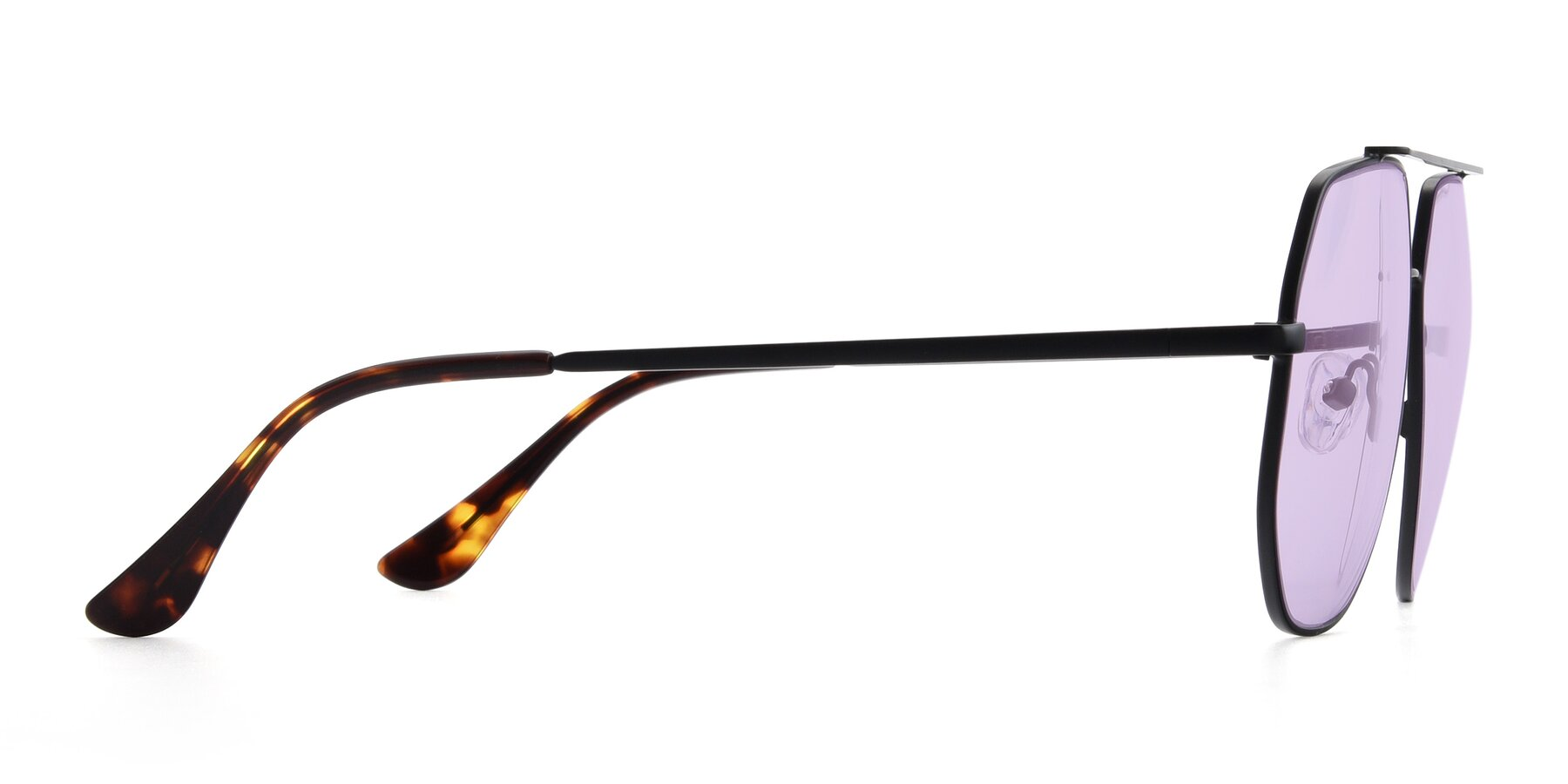 Side of 9438 in Black with Light Purple Tinted Lenses