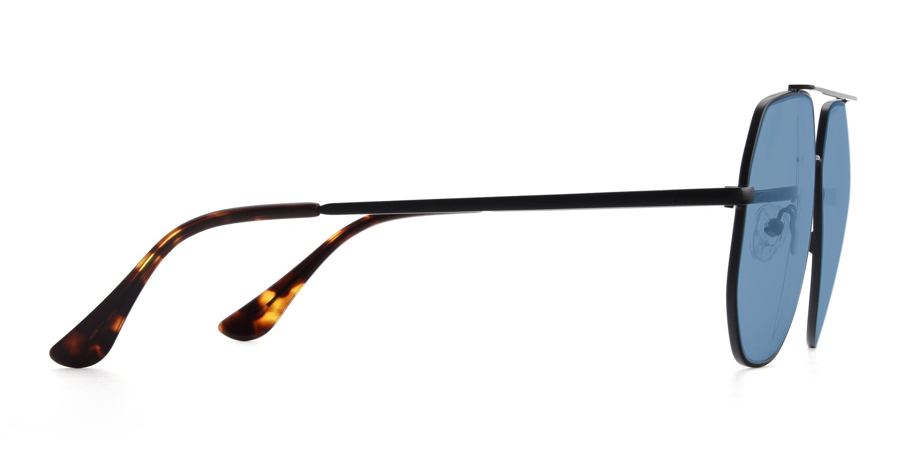 Side of 9438 in Black with Medium Blue Tinted Lenses