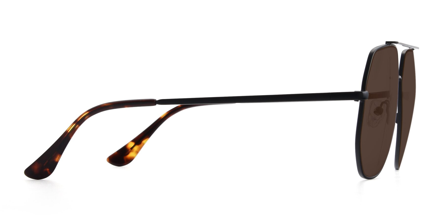 Side of 9438 in Black with Brown Tinted Lenses