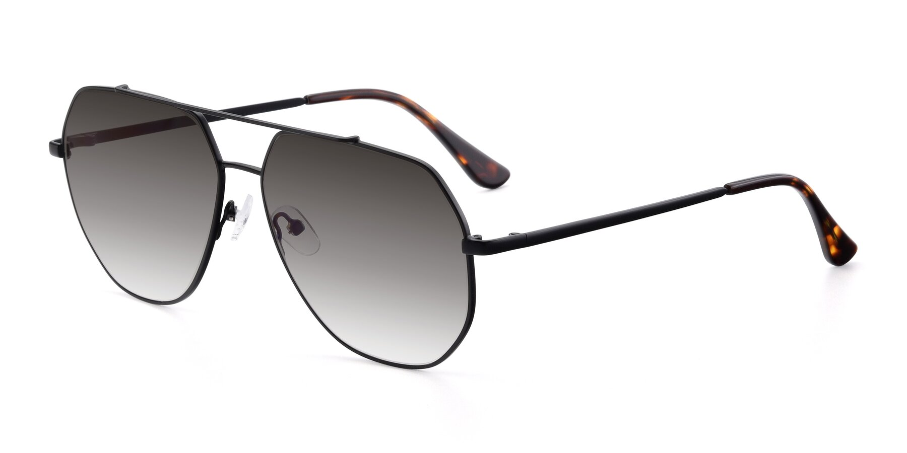 Angle of 9438 in Black with Gray Gradient Lenses