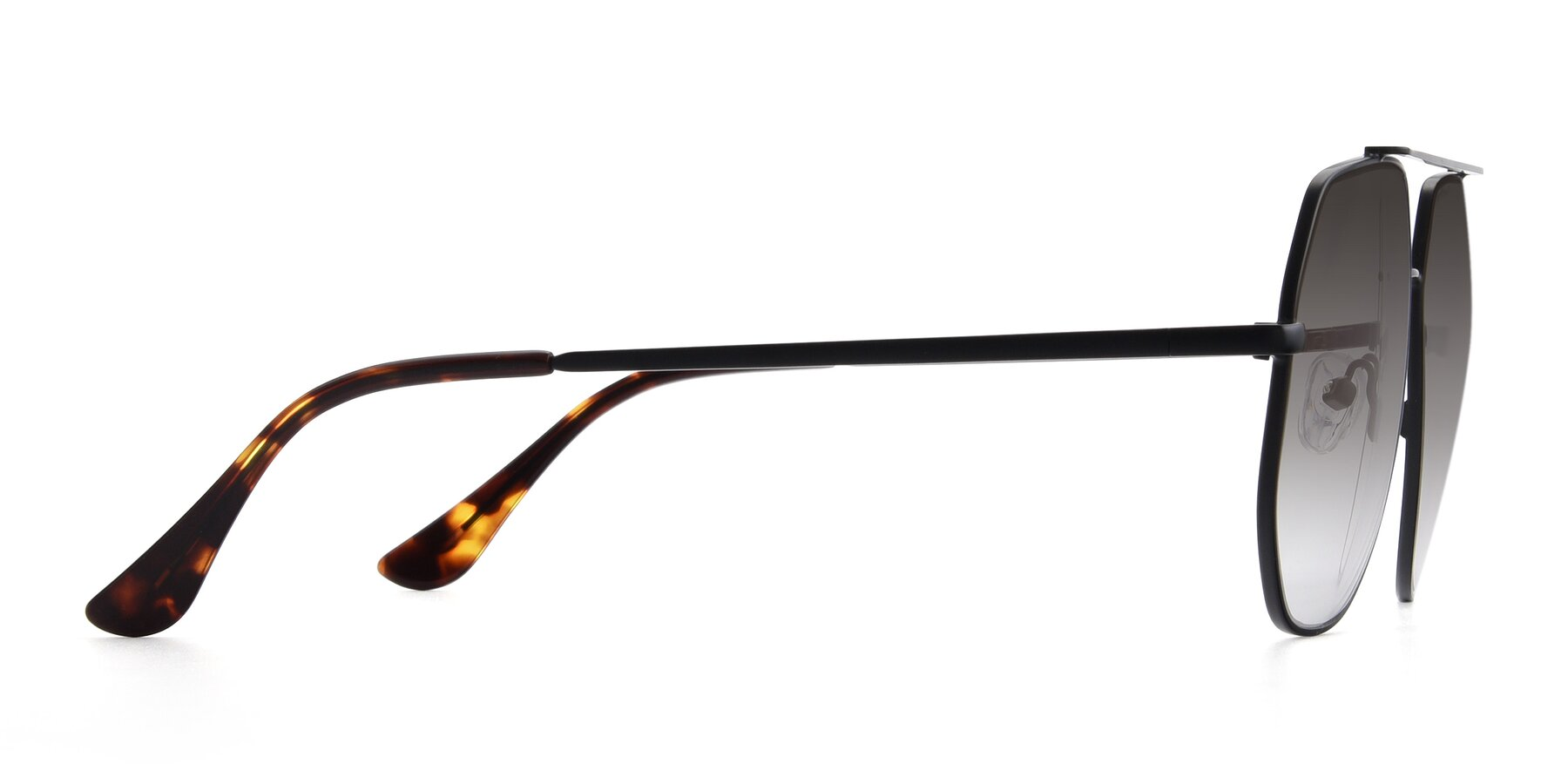 Side of 9438 in Black with Gray Gradient Lenses