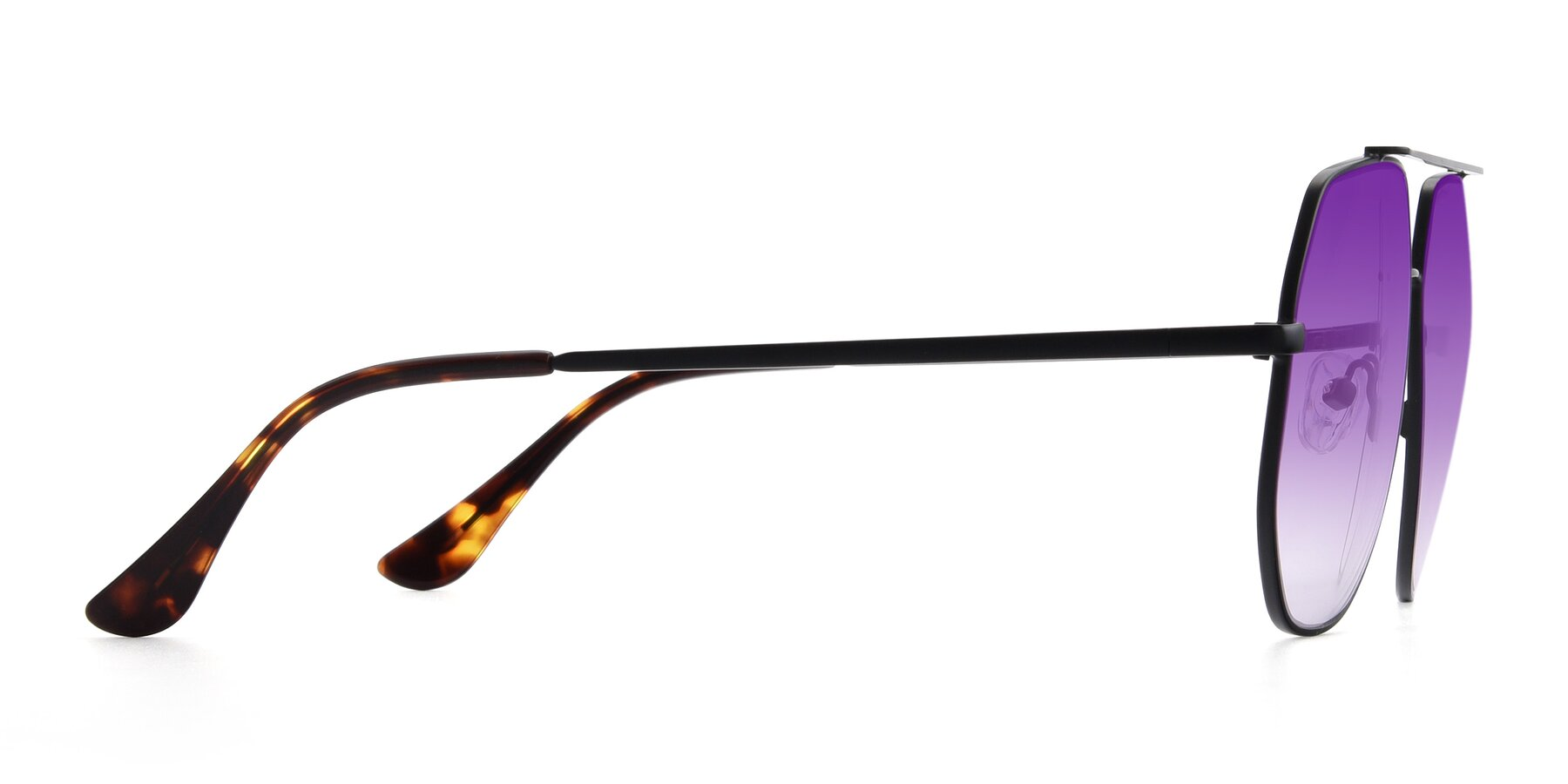 Side of 9438 in Black with Purple Gradient Lenses