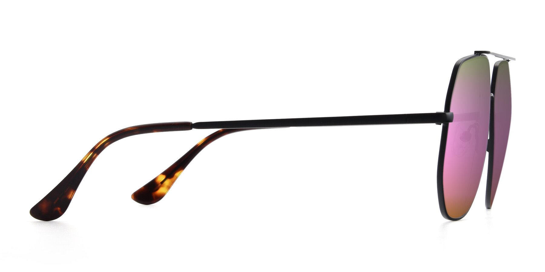 Side of 9438 in Black with Pink Mirrored Lenses