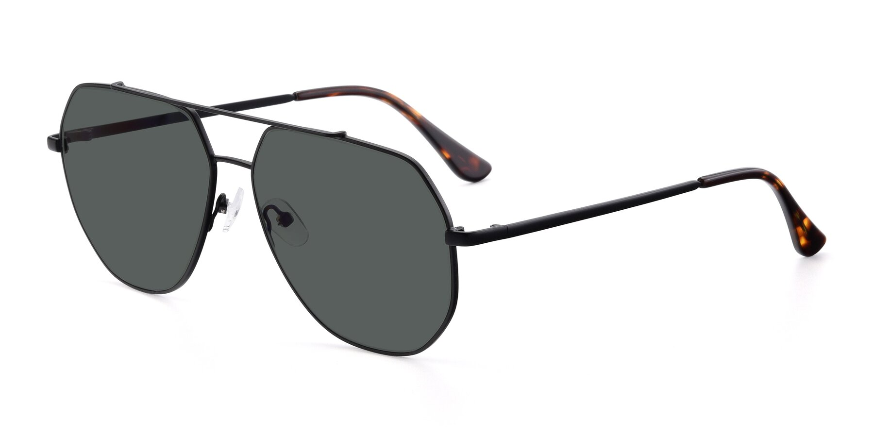 Angle of 9438 in Black with Gray Polarized Lenses