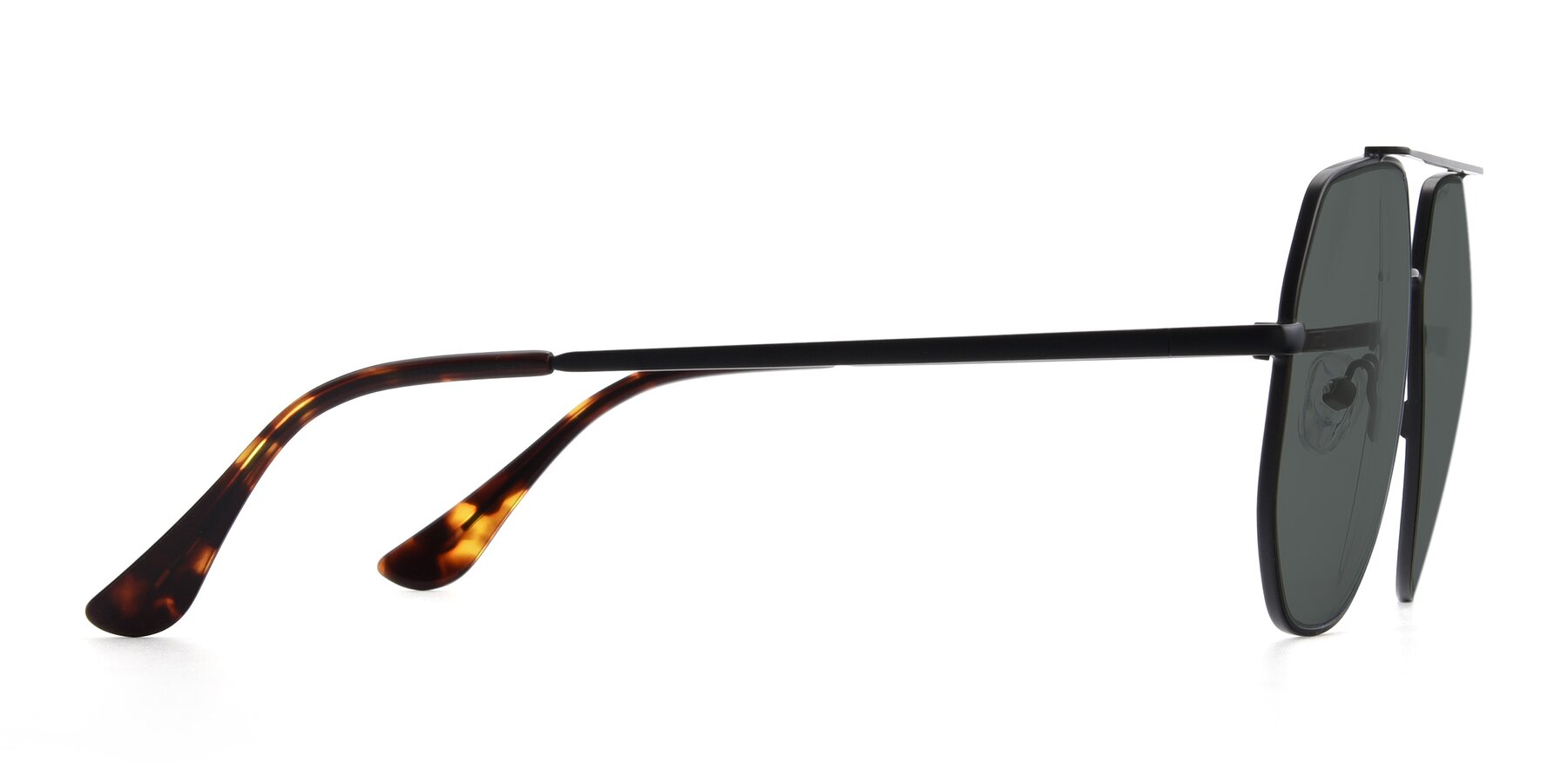 Side of 9438 in Black with Gray Polarized Lenses