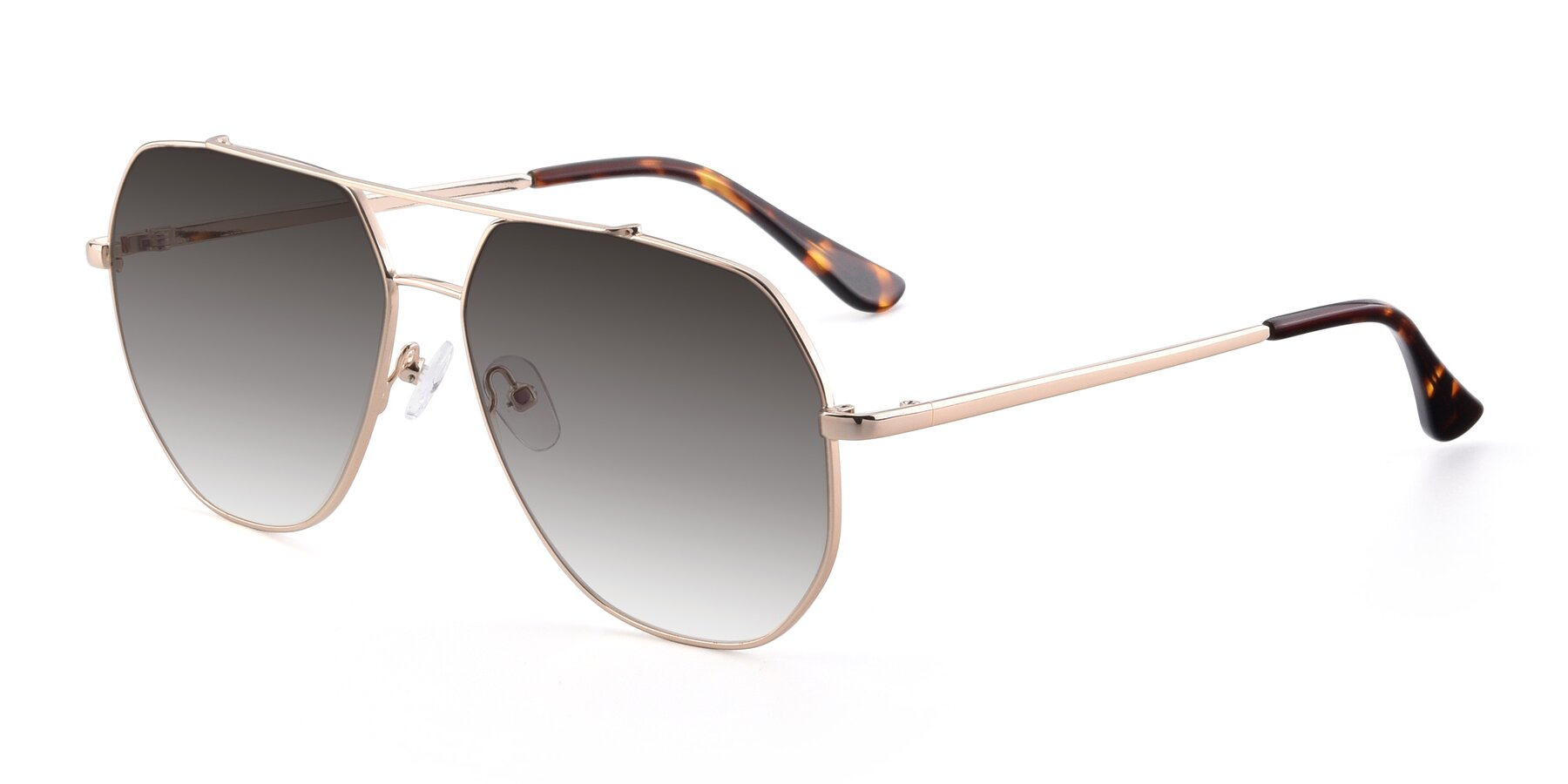Angle of 9438 in Gold with Gray Gradient Lenses