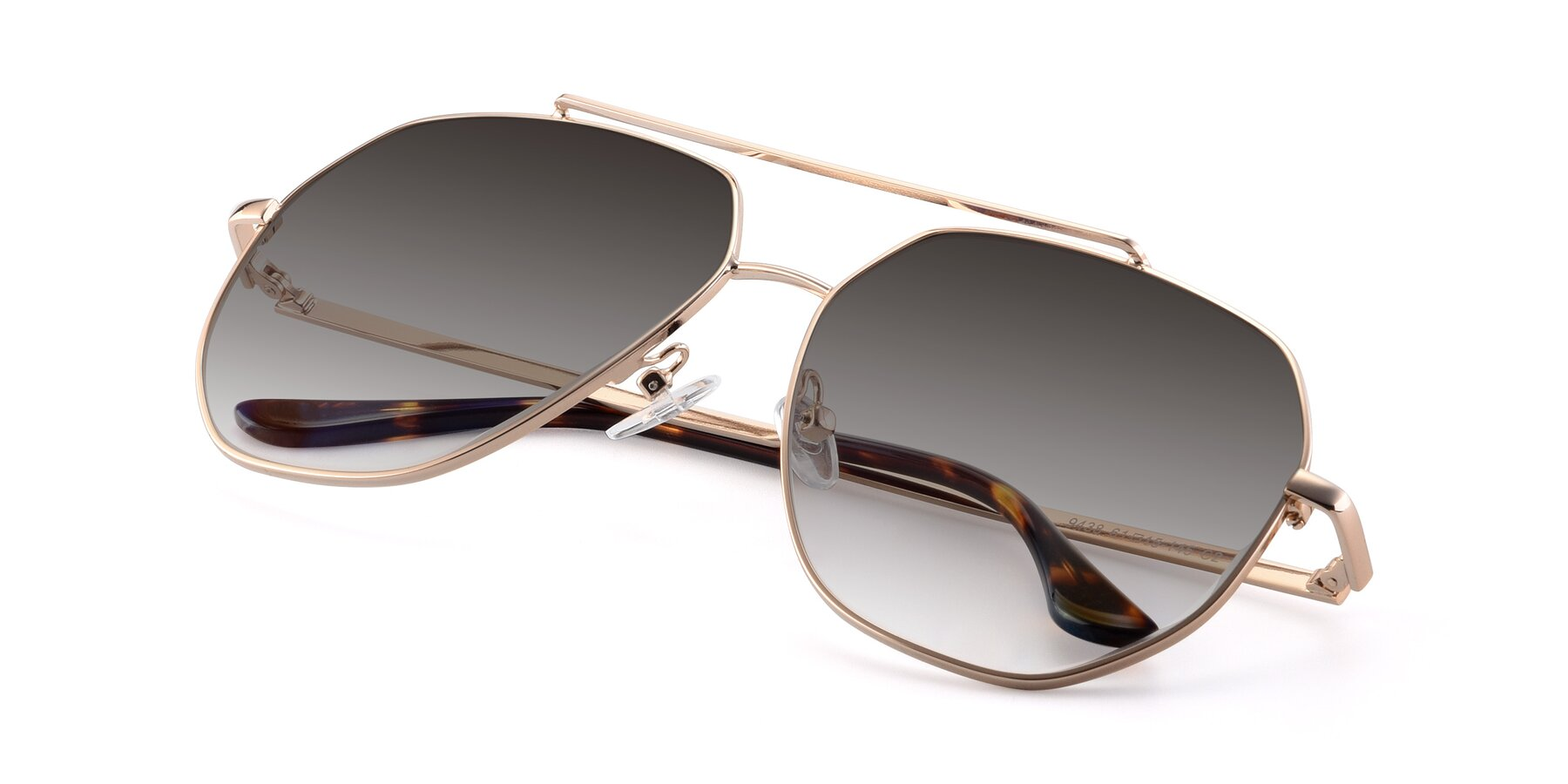 View of 9438 in Gold with Gray Gradient Lenses