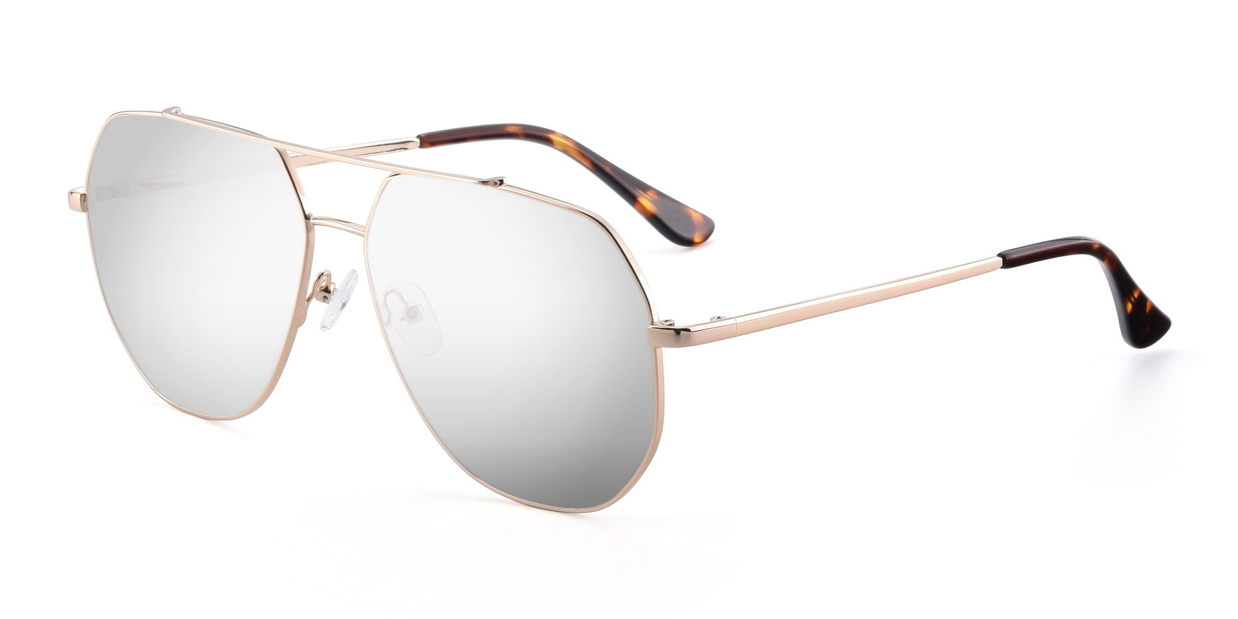 Angle of 9438 in Gold with Silver Mirrored Lenses