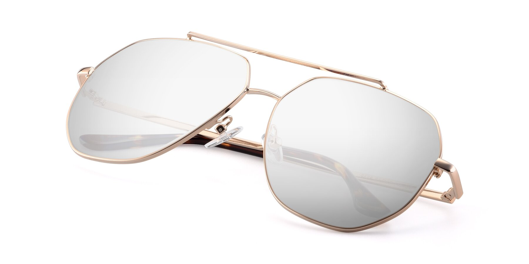 View of 9438 in Gold with Silver Mirrored Lenses