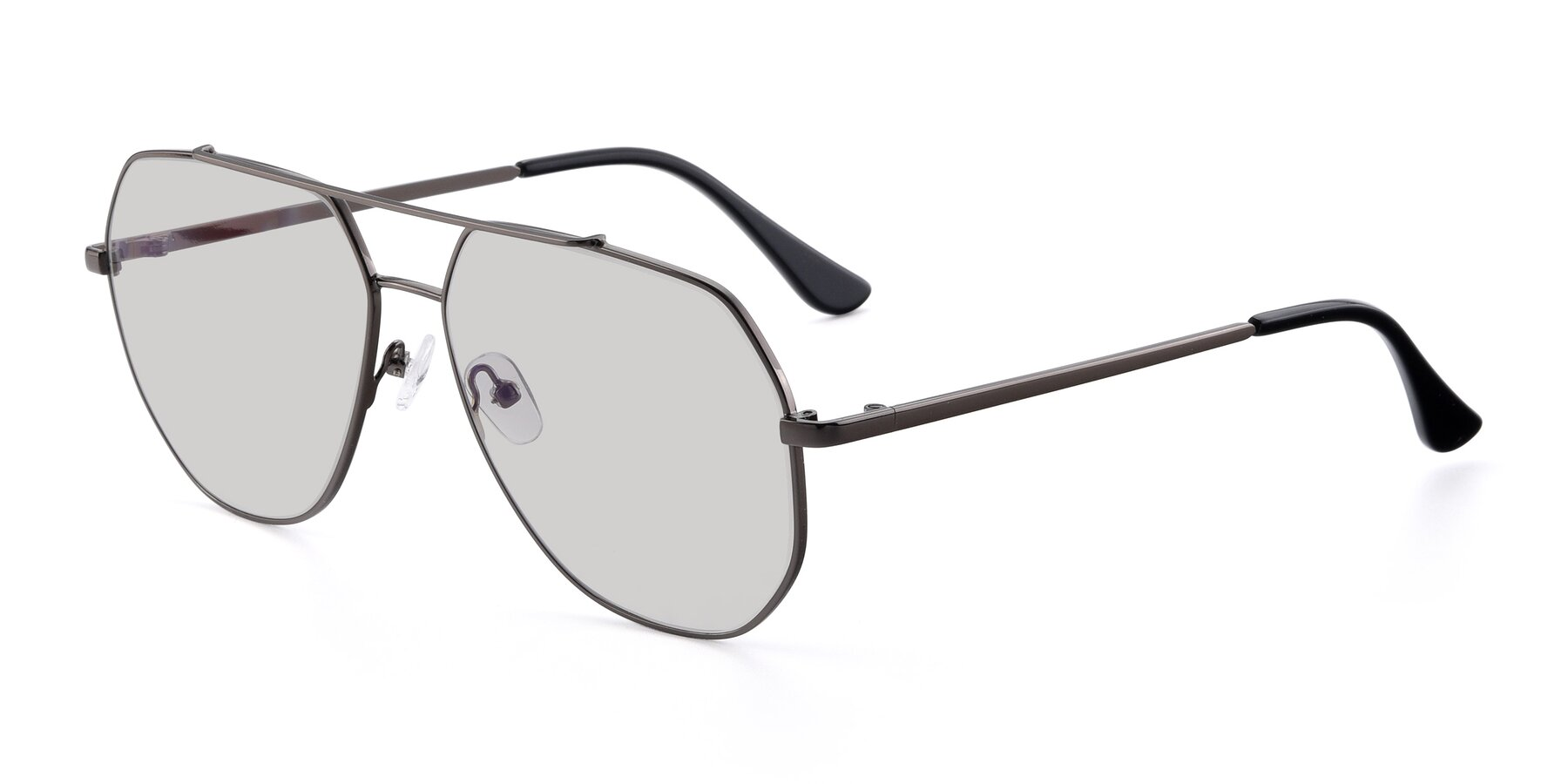 Angle of 9438 in Gunmetal with Light Gray Tinted Lenses
