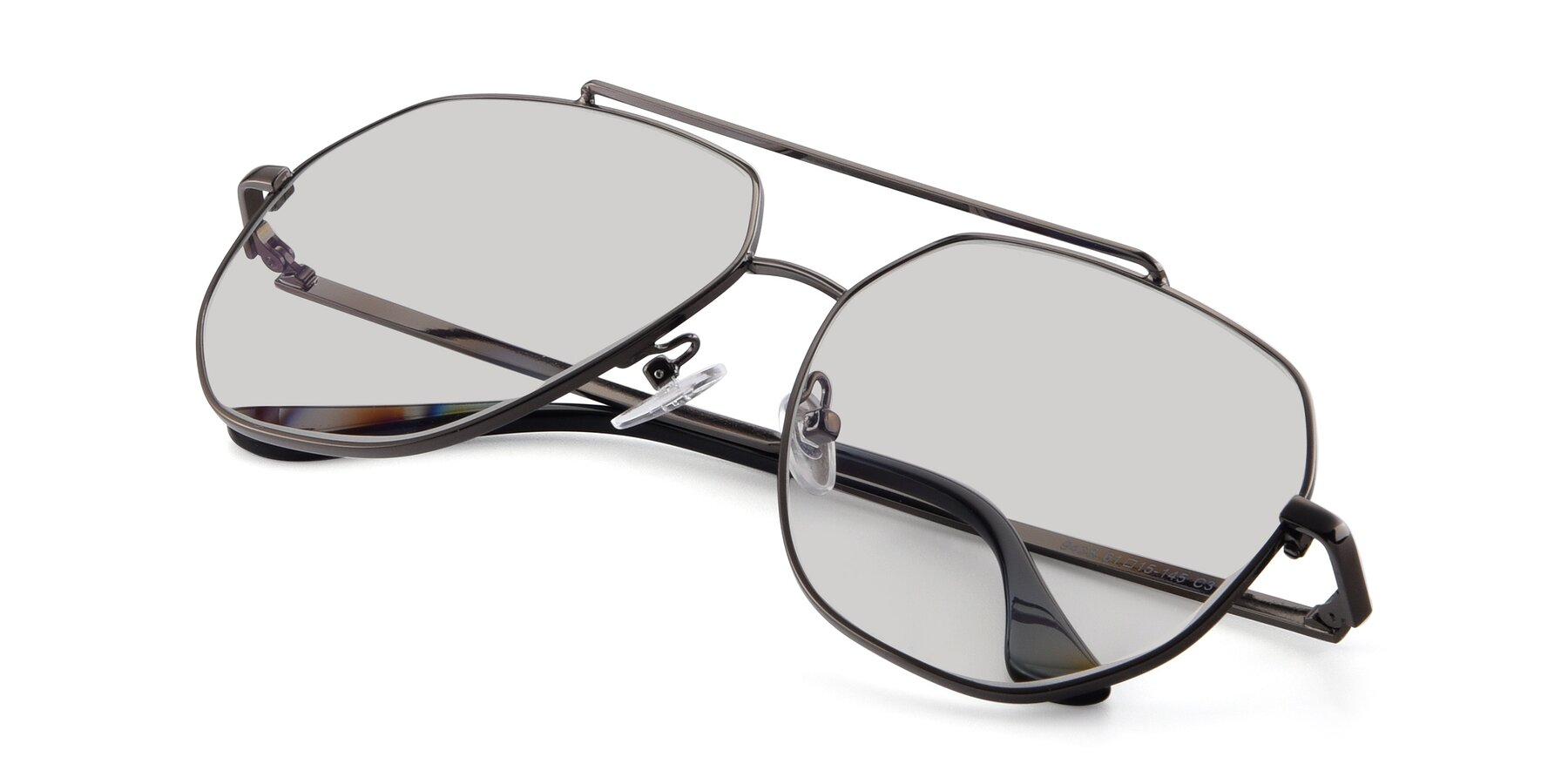 View of 9438 in Gunmetal with Light Gray Tinted Lenses