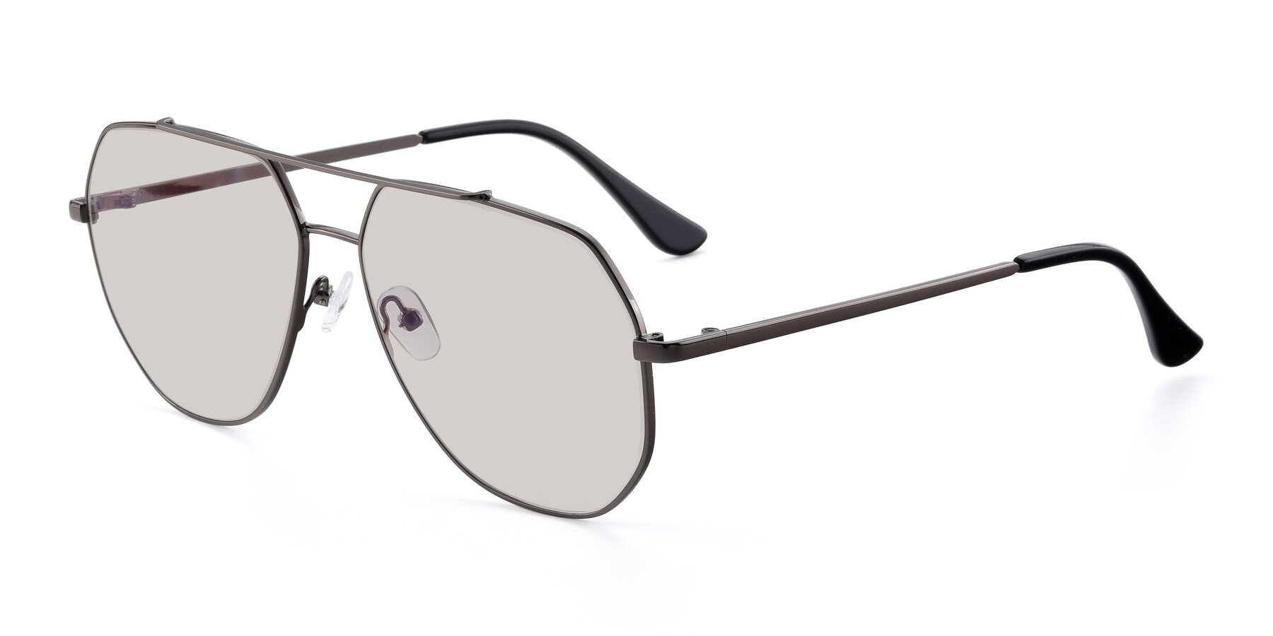 Angle of 9438 in Gunmetal with Light Brown Tinted Lenses
