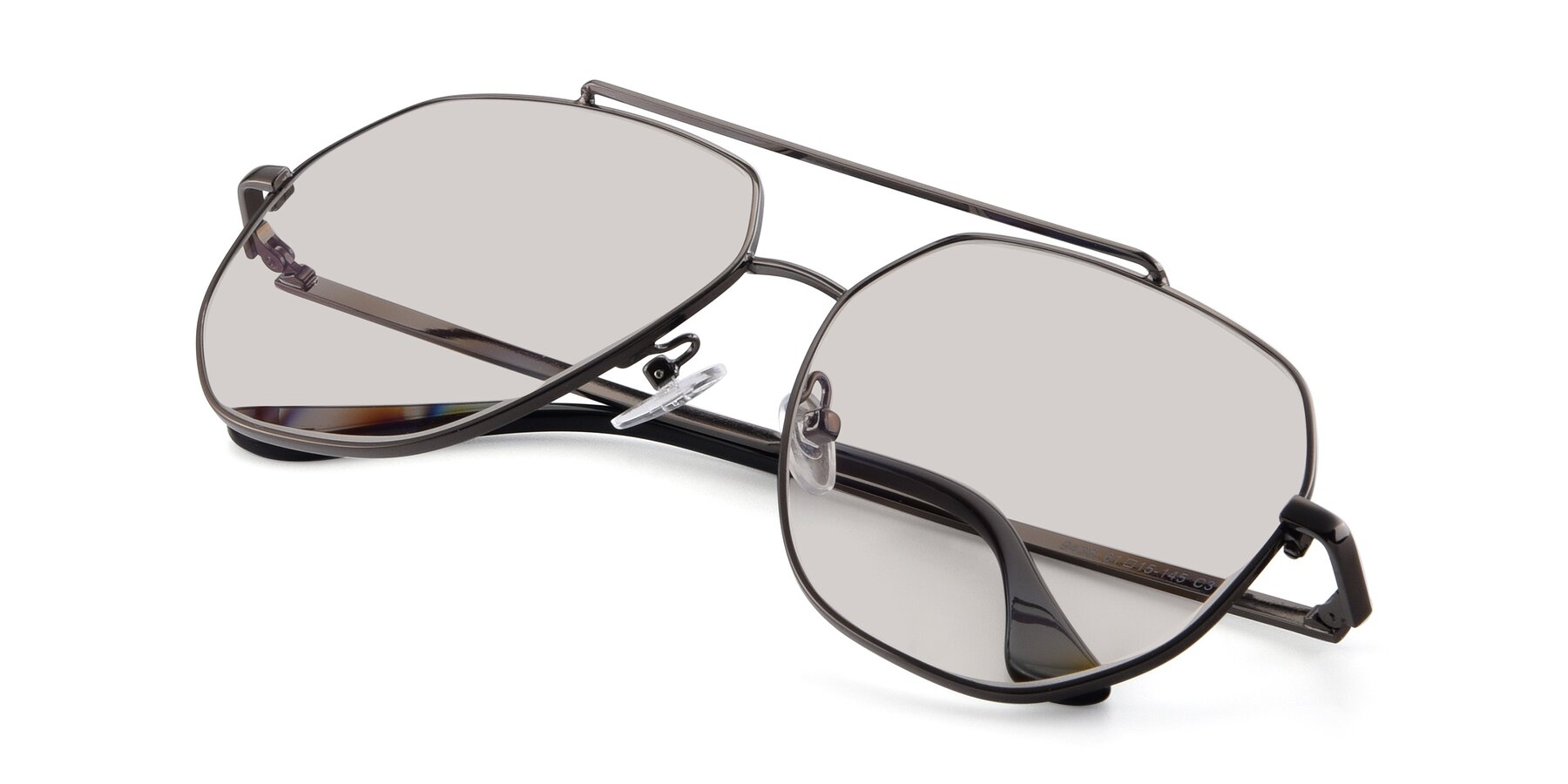 View of 9438 in Gunmetal with Light Brown Tinted Lenses