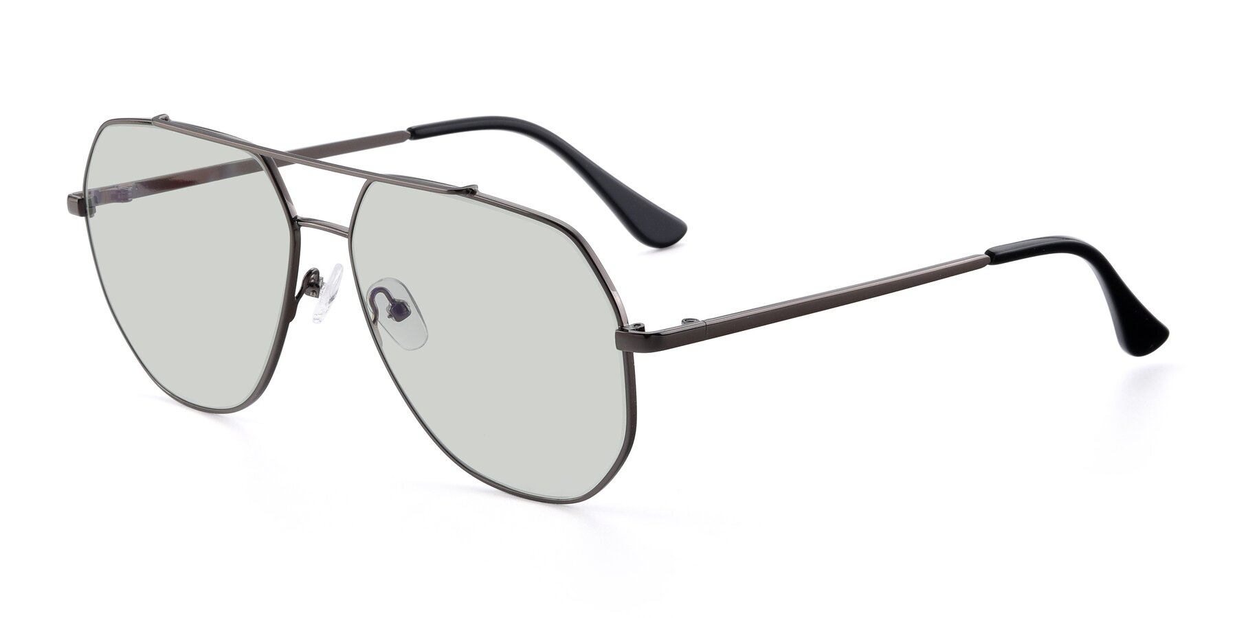 Angle of 9438 in Gunmetal with Light Green Tinted Lenses