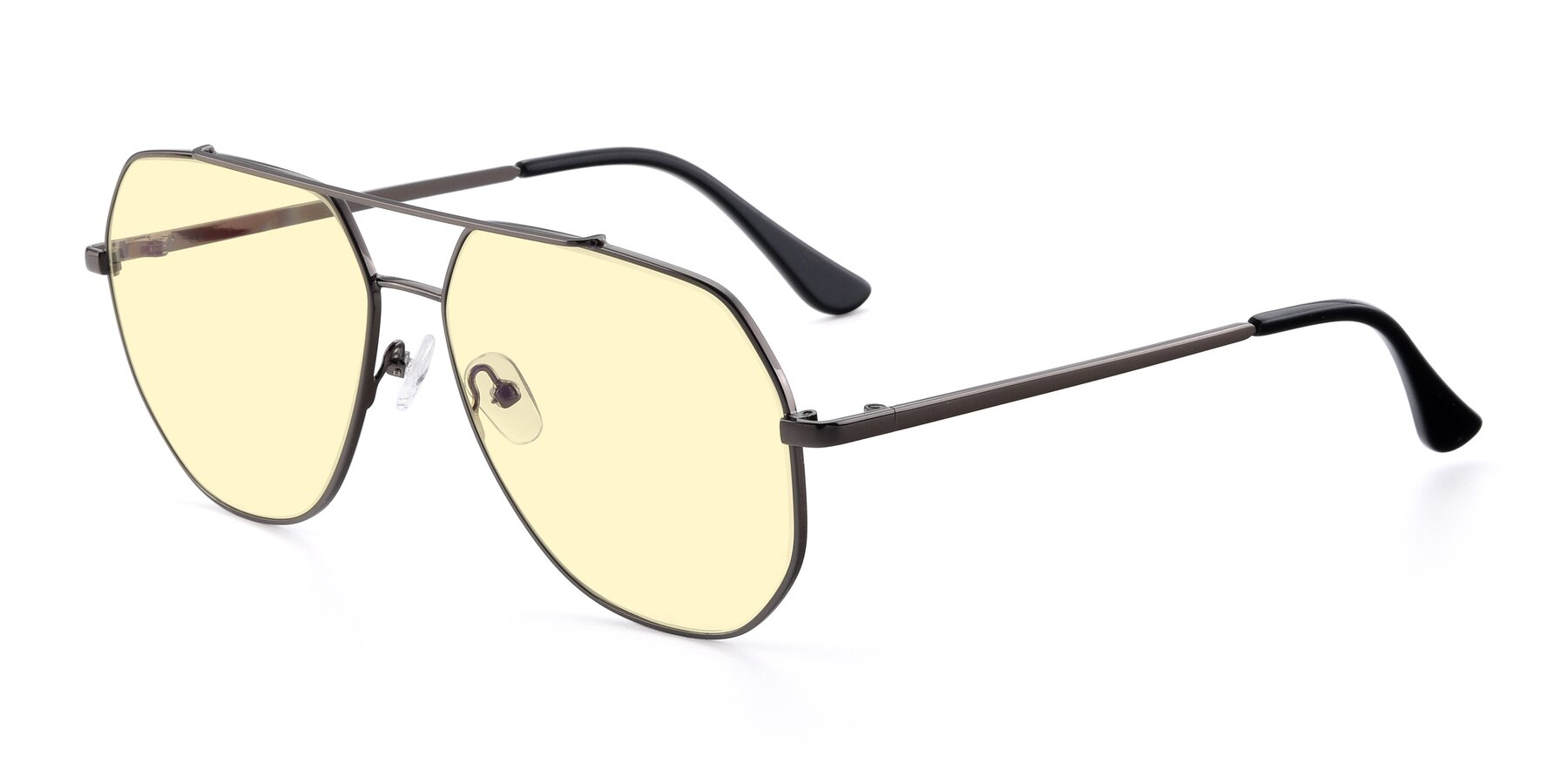 Angle of 9438 in Gunmetal with Light Yellow Tinted Lenses
