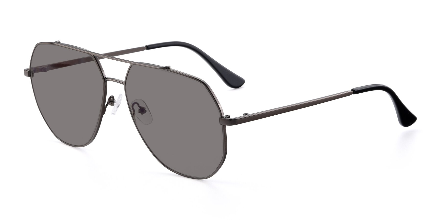 Angle of 9438 in Gunmetal with Medium Gray Tinted Lenses