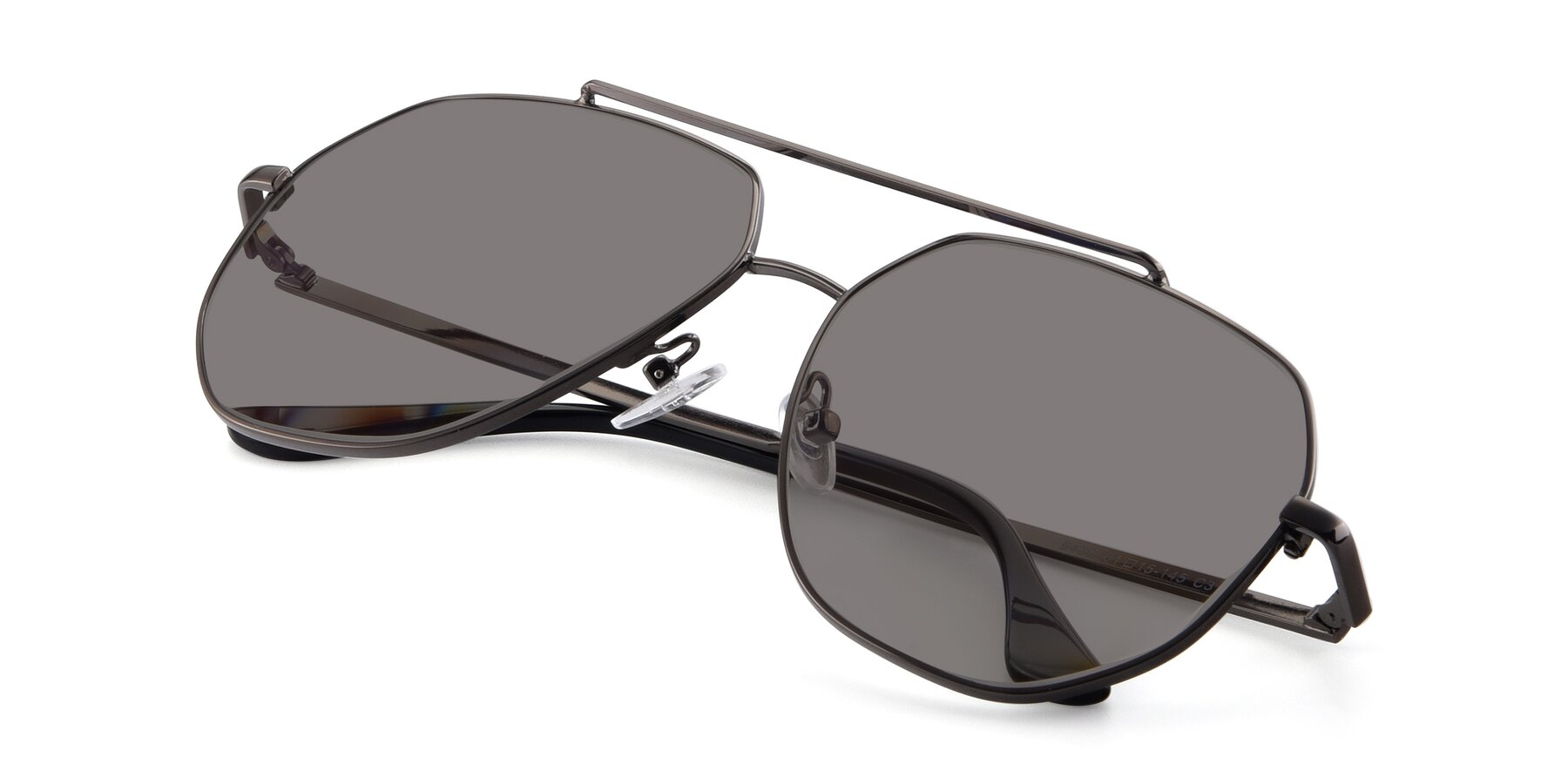 View of 9438 in Gunmetal with Medium Gray Tinted Lenses