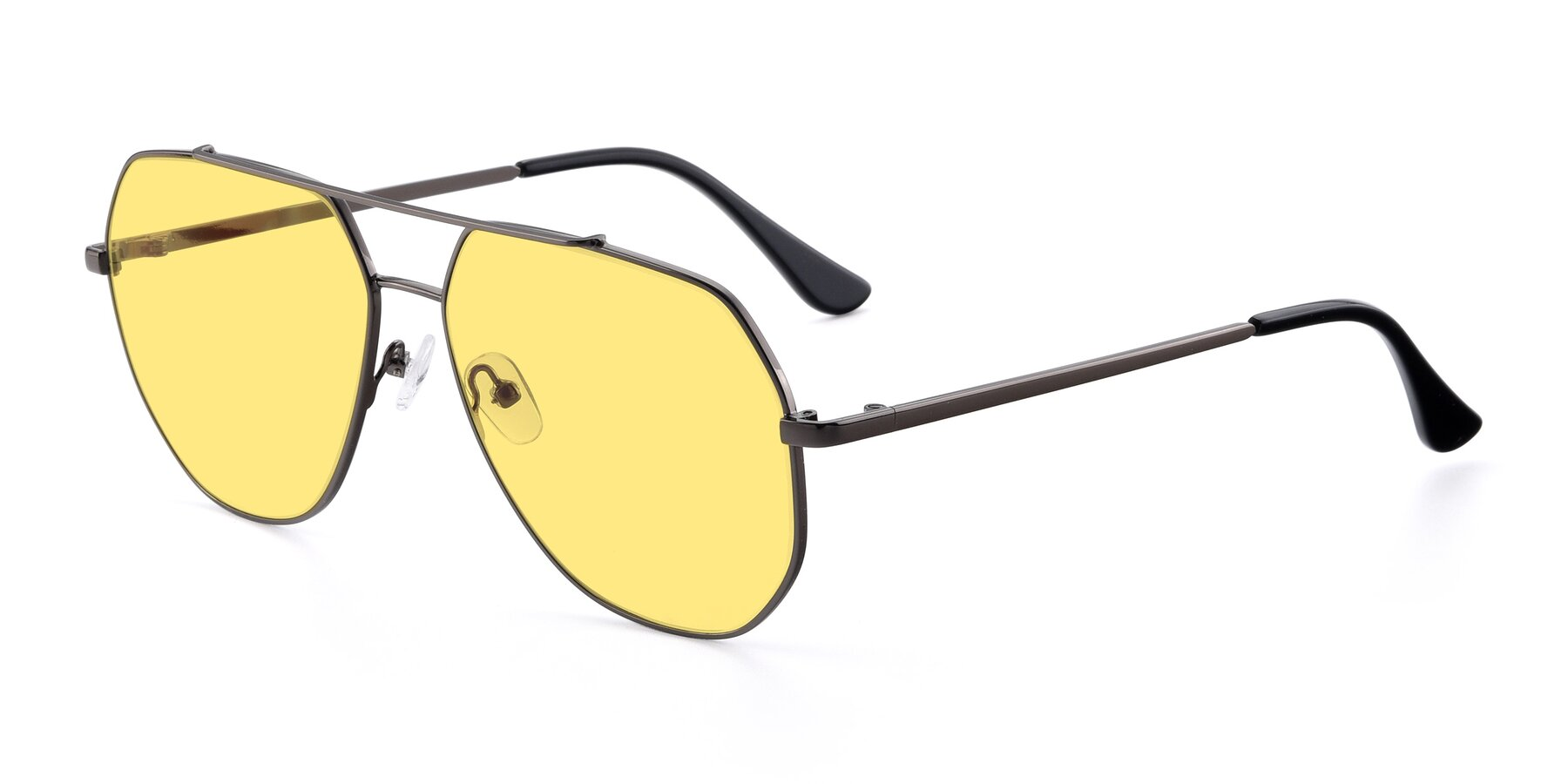 Angle of 9438 in Gunmetal with Medium Yellow Tinted Lenses