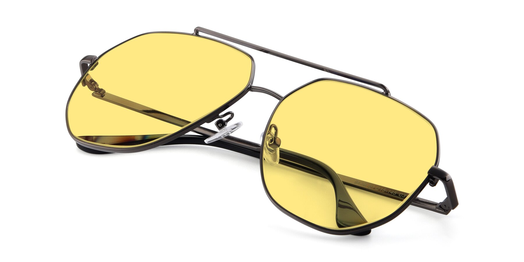 View of 9438 in Gunmetal with Medium Yellow Tinted Lenses