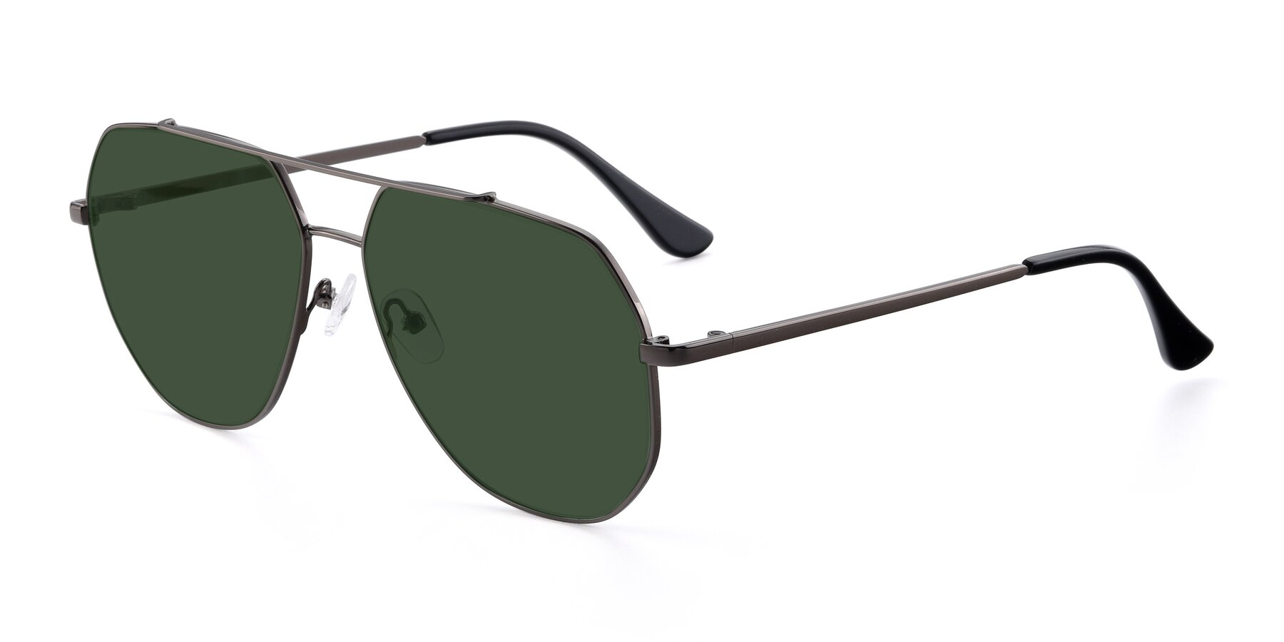 Angle of 9438 in Gunmetal with Green Tinted Lenses