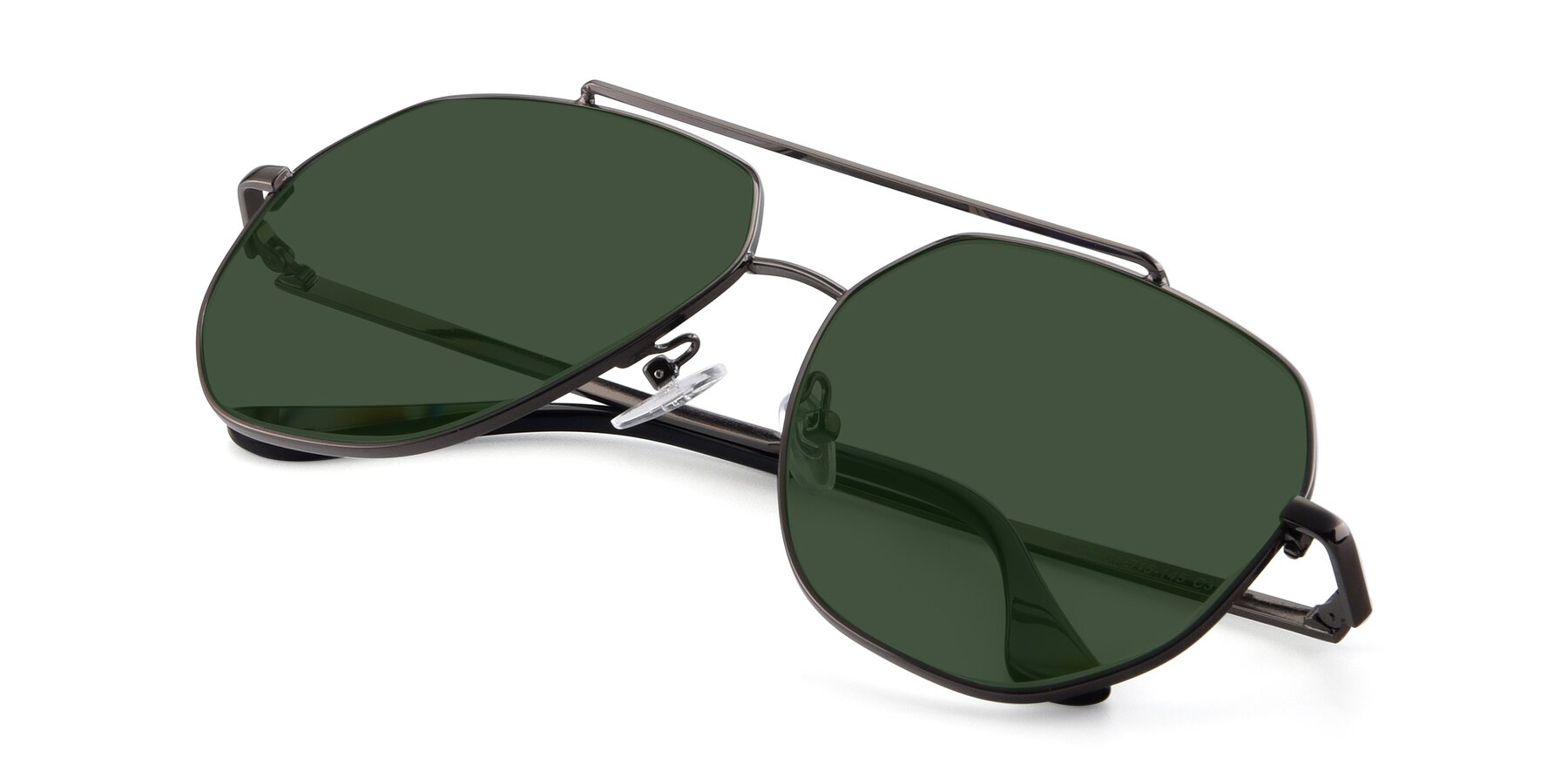 View of 9438 in Gunmetal with Green Tinted Lenses