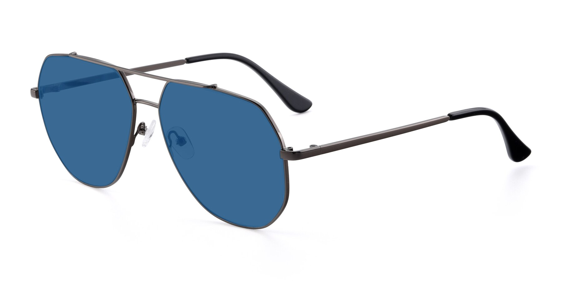 Angle of 9438 in Gunmetal with Blue Tinted Lenses
