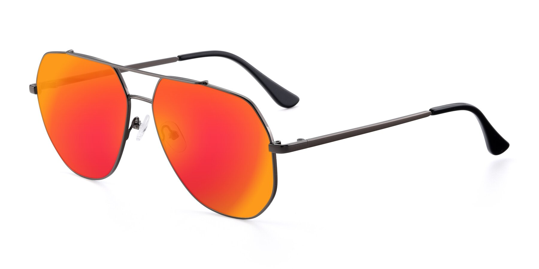 Angle of 9438 in Gunmetal with Red Gold Mirrored Lenses