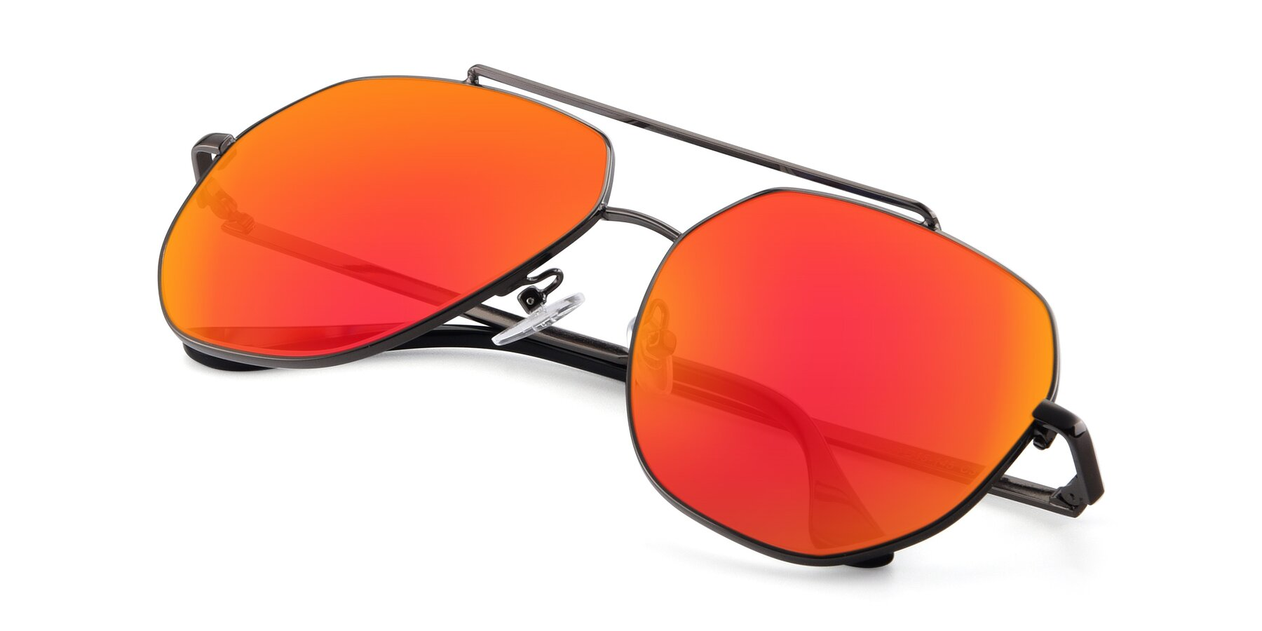 View of 9438 in Gunmetal with Red Gold Mirrored Lenses