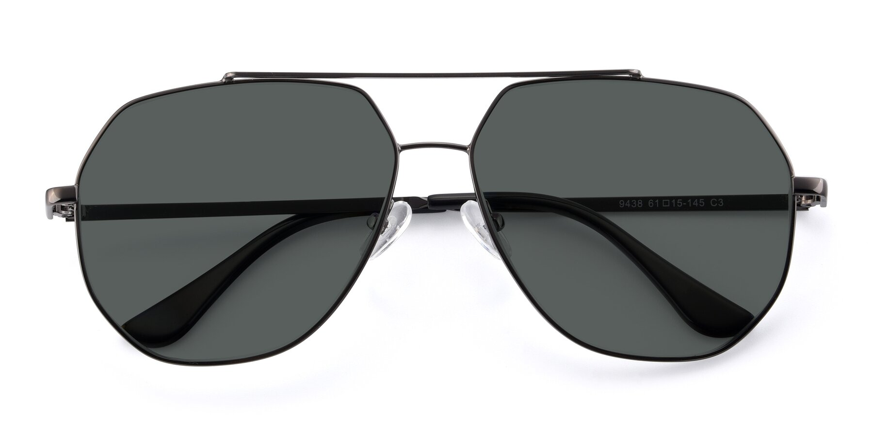 Folded Front of 9438 in Gunmetal with Gray Polarized Lenses