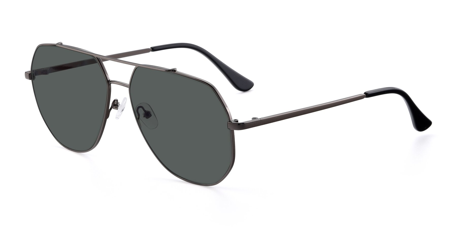 Angle of 9438 in Gunmetal with Gray Polarized Lenses