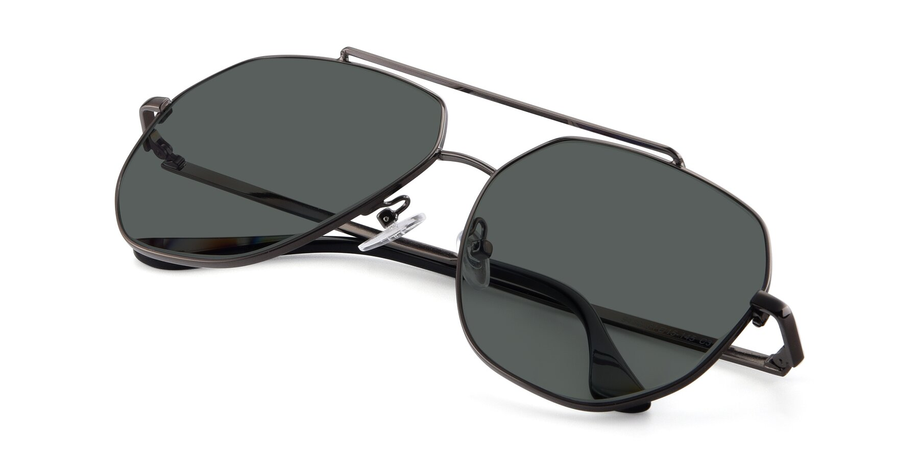 View of 9438 in Gunmetal with Gray Polarized Lenses