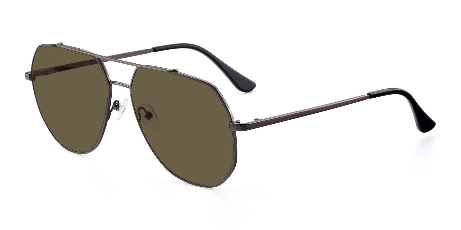 Angle of 9438 in Gunmetal with Brown Polarized Lenses