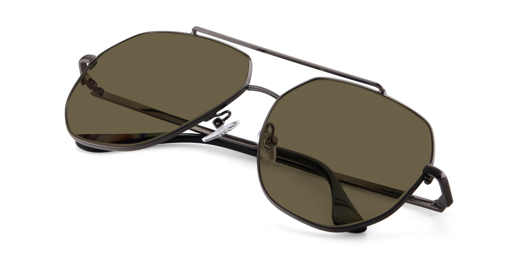 View of 9438 in Gunmetal with Brown Polarized Lenses