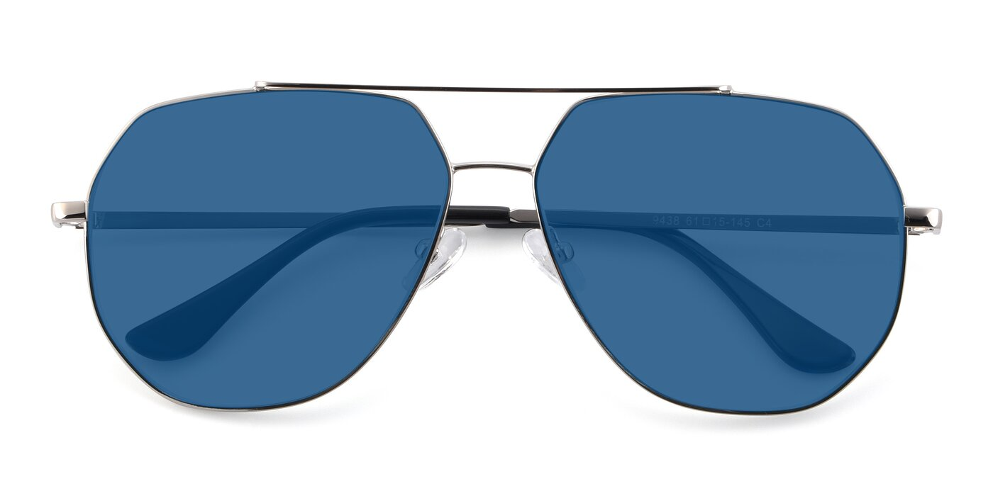 9438 - Silver Tinted Sunglasses