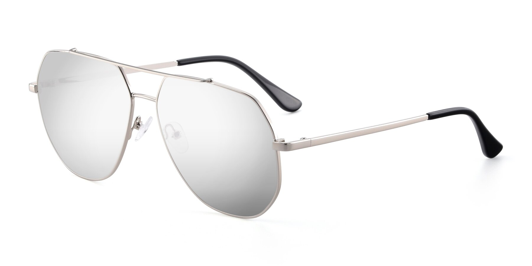 Angle of 9438 in Silver with Silver Mirrored Lenses