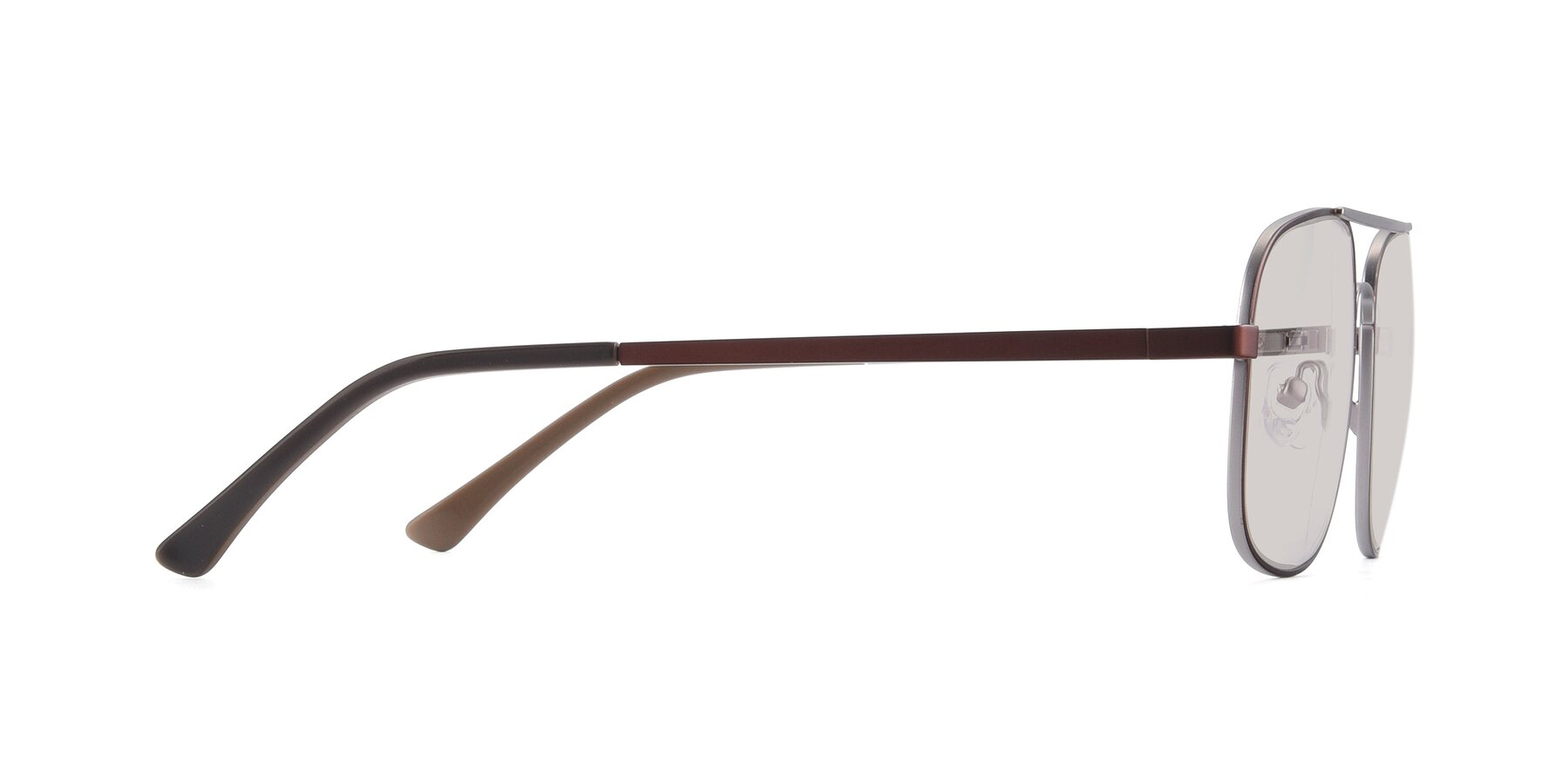 Side of 9487 in Brown-Silver with Light Brown Tinted Lenses