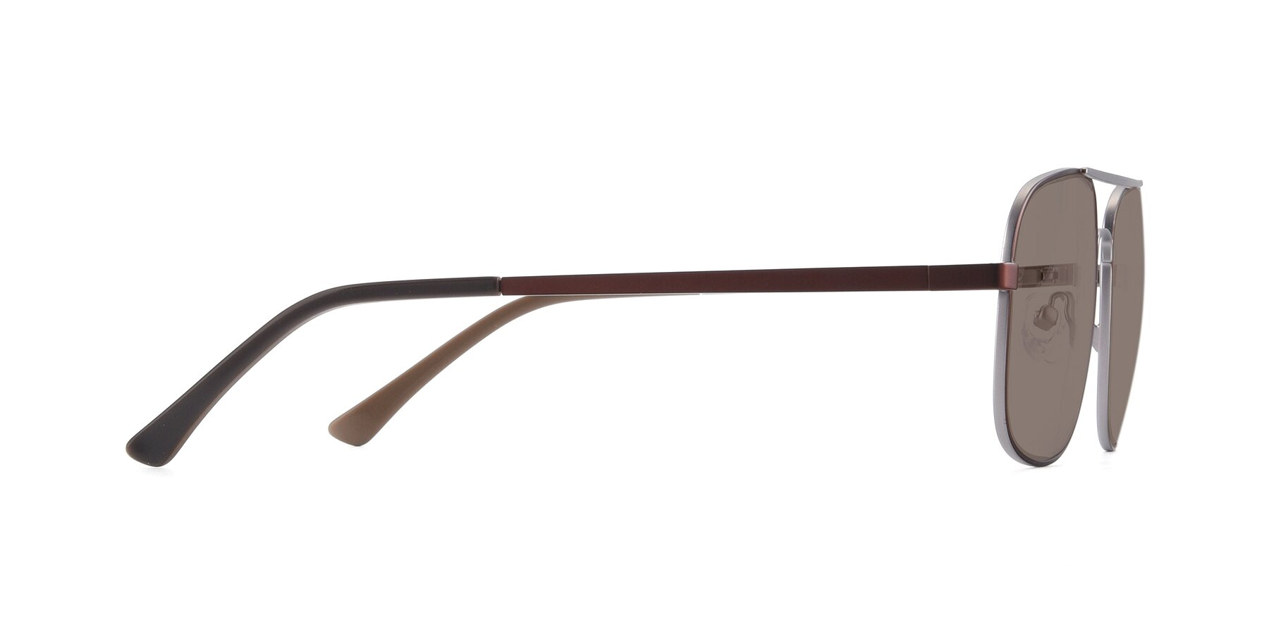 Side of 9487 in Brown-Silver with Medium Brown Tinted Lenses