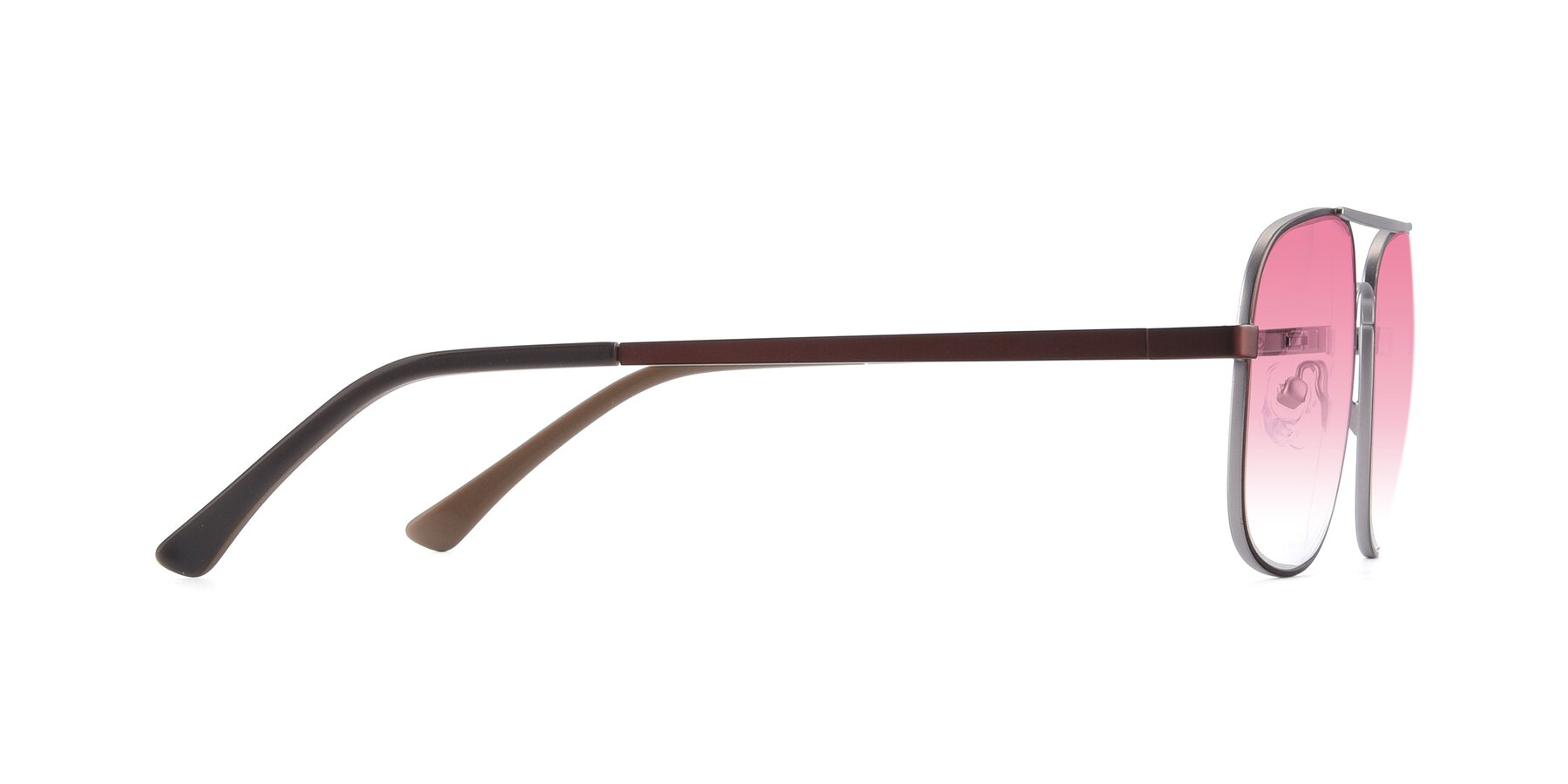 Side of 9487 in Brown-Silver with Pink Gradient Lenses