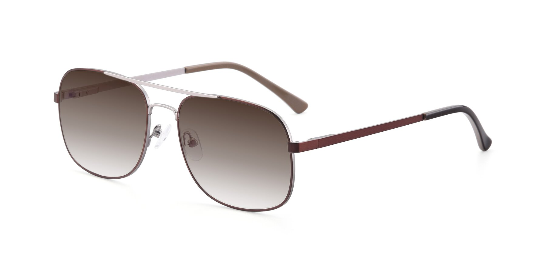 Angle of 9487 in Brown-Silver with Brown Gradient Lenses