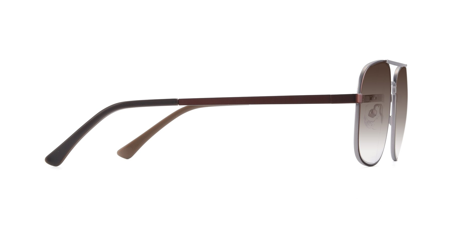 Side of 9487 in Brown-Silver with Brown Gradient Lenses
