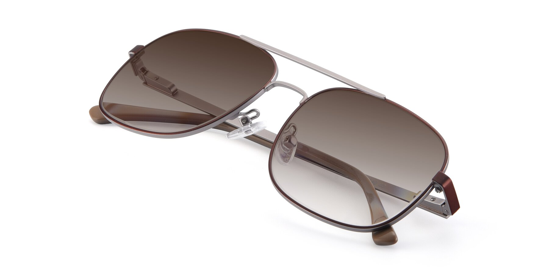 View of 9487 in Brown-Silver with Brown Gradient Lenses