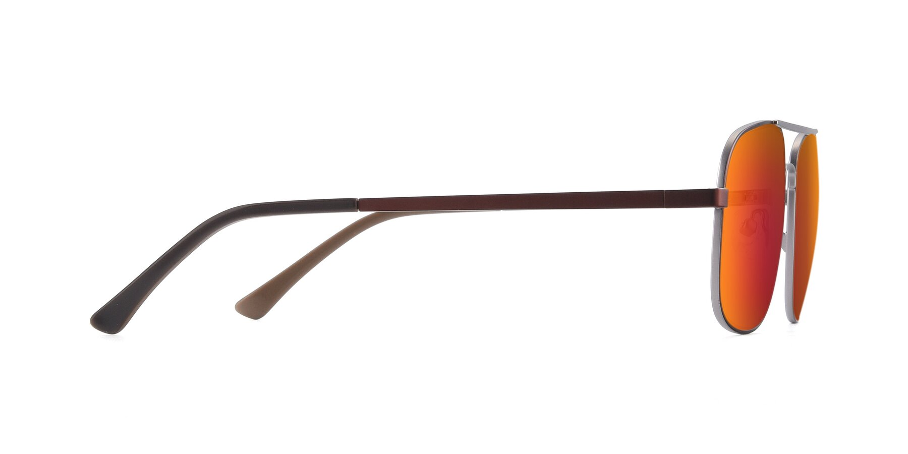 Side of 9487 in Brown-Silver with Red Gold Mirrored Lenses