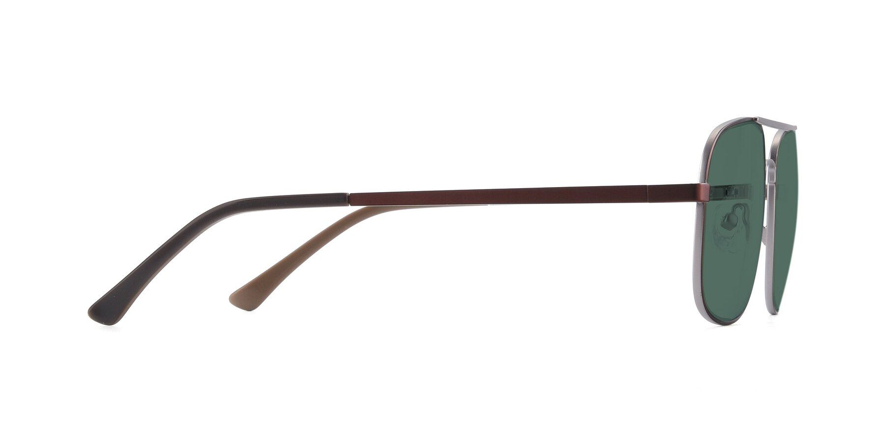 Side of 9487 in Brown-Silver with Green Polarized Lenses