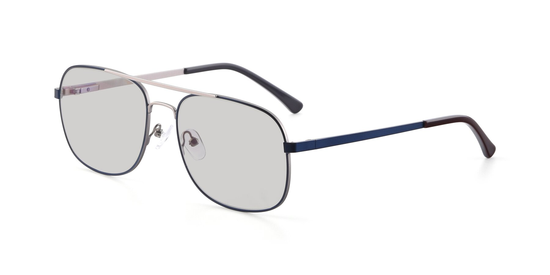 Angle of 9487 in Blue-Silver with Light Gray Tinted Lenses