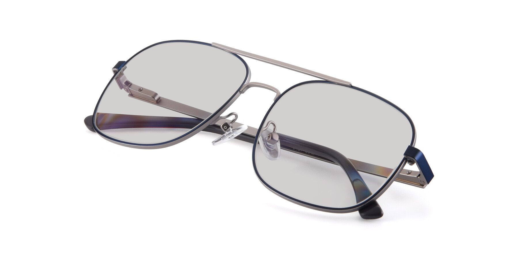 View of 9487 in Blue-Silver with Light Gray Tinted Lenses