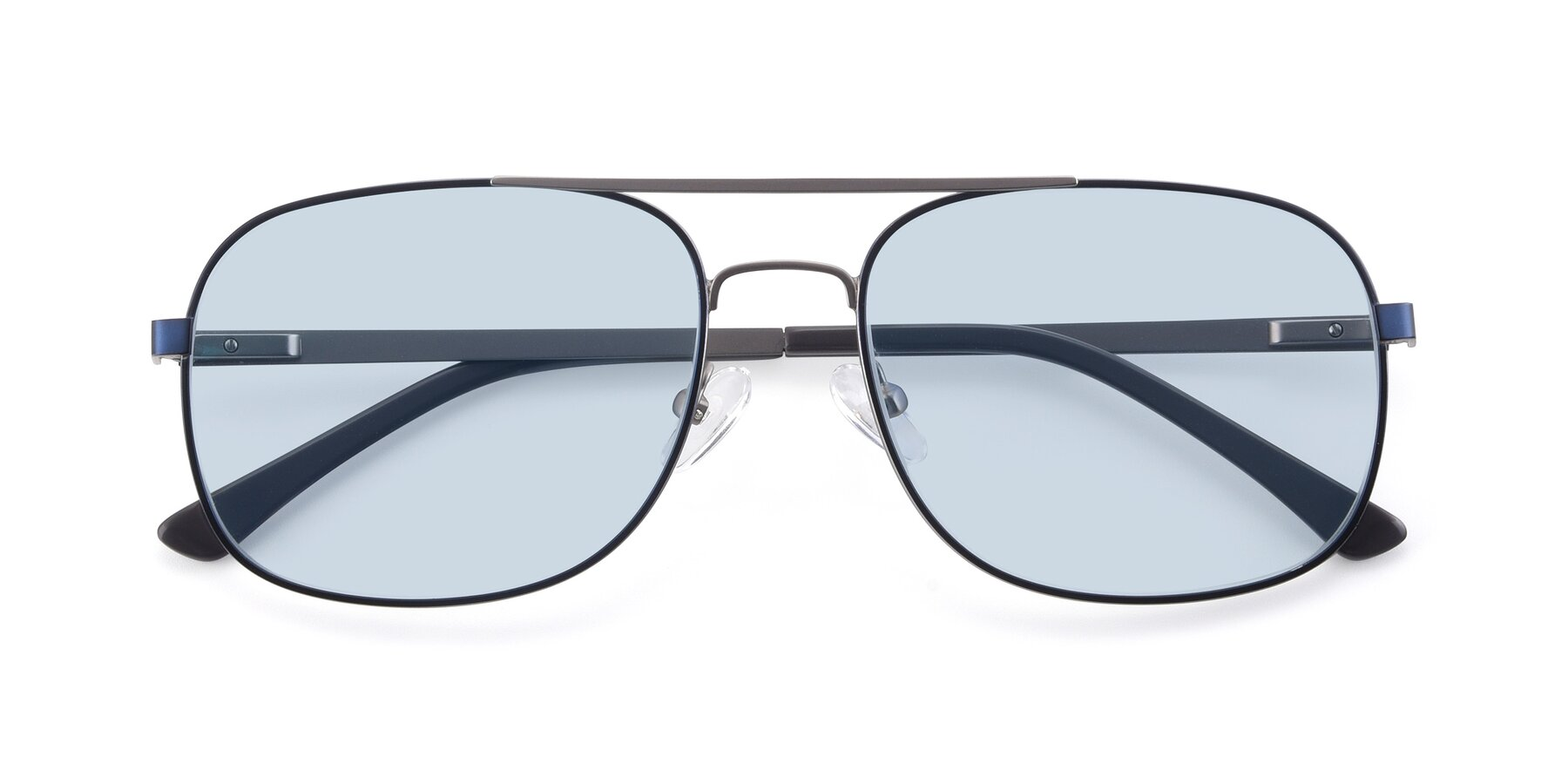 Folded Front of 9487 in Blue-Silver with Light Blue Tinted Lenses