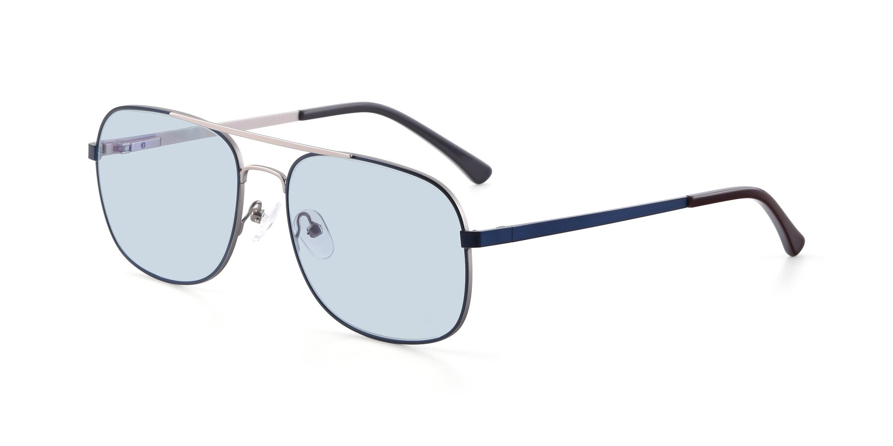 Angle of 9487 in Blue-Silver with Light Blue Tinted Lenses