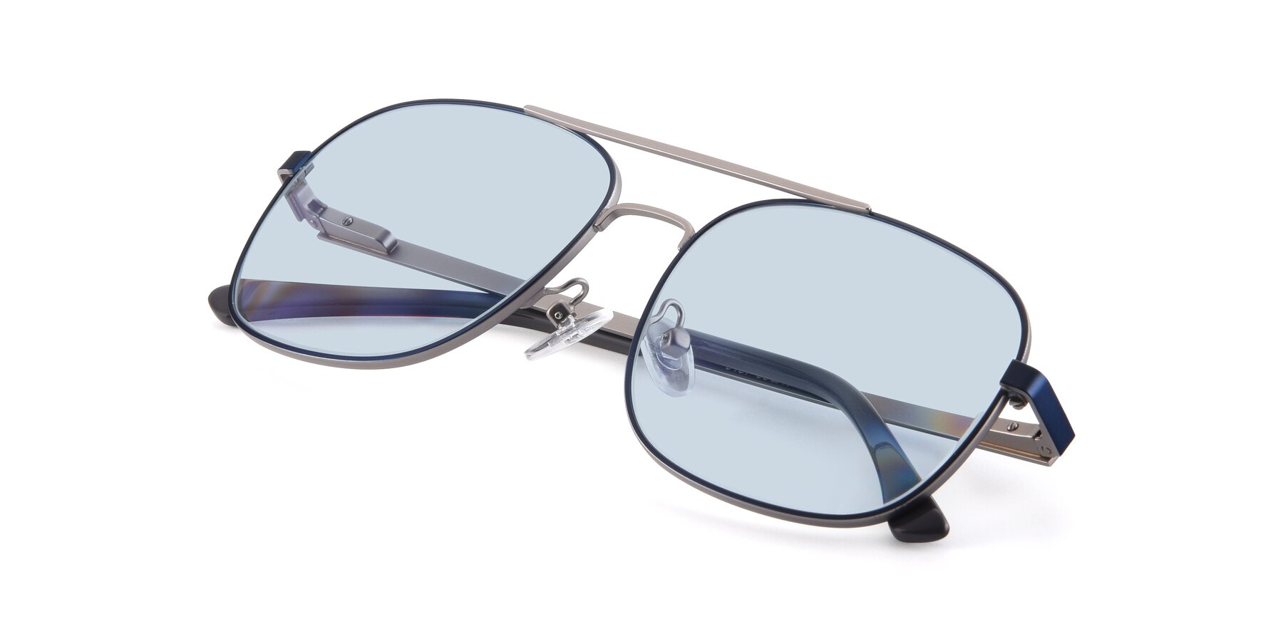 View of 9487 in Blue-Silver with Light Blue Tinted Lenses