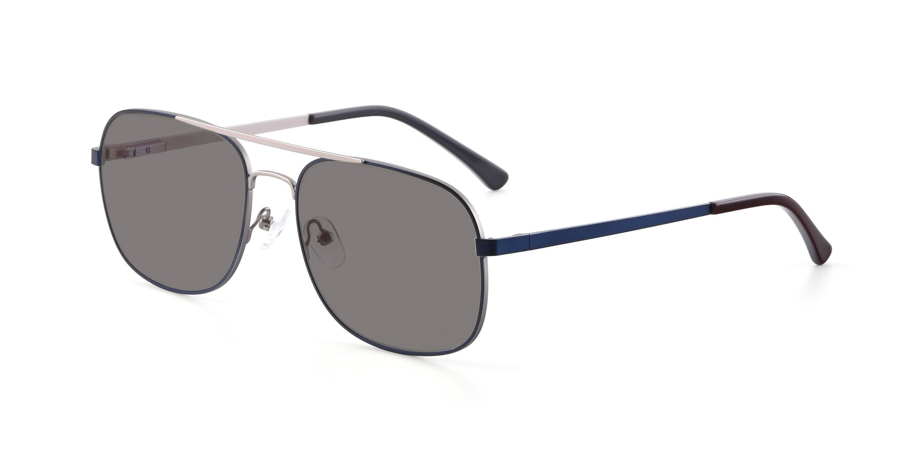 Angle of 9487 in Blue-Silver with Medium Gray Tinted Lenses